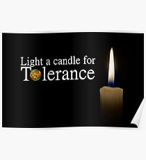 light a candle for tolerance Poster