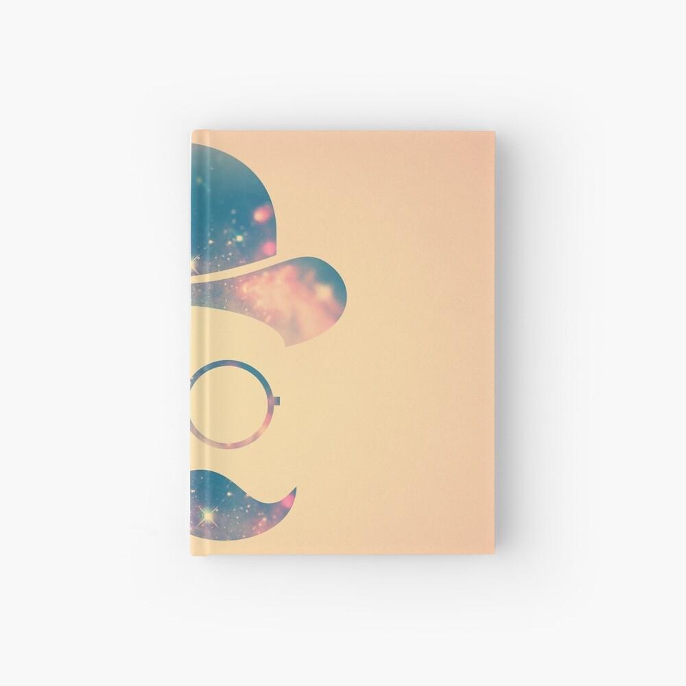 Retro Gesicht mit Schnurrbart und Brille / Universum - Galaxy Hipster (GOLD)) Notizbuch
