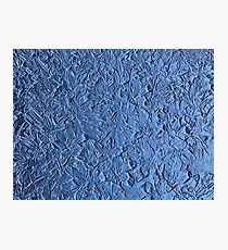 Blue abstract texture Photographic Print