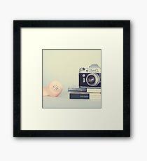 Vintage Camera and Retro Telephone  Framed Print