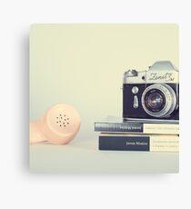 Vintage Camera and Retro Telephone  Canvas Print