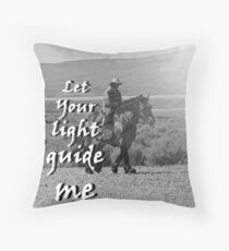 """""""Let Your light guide me"""" by Carter L. Shepard Throw Pillow"""