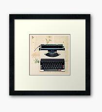 Retro Typewriter Framed Print