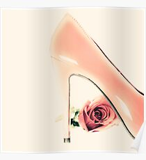 Pink Heel and Rose  Poster