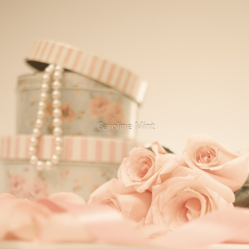 Pink Roses and Pearls  by Caroline Mint
