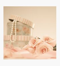 Pink Roses and Pearls  Photographic Print