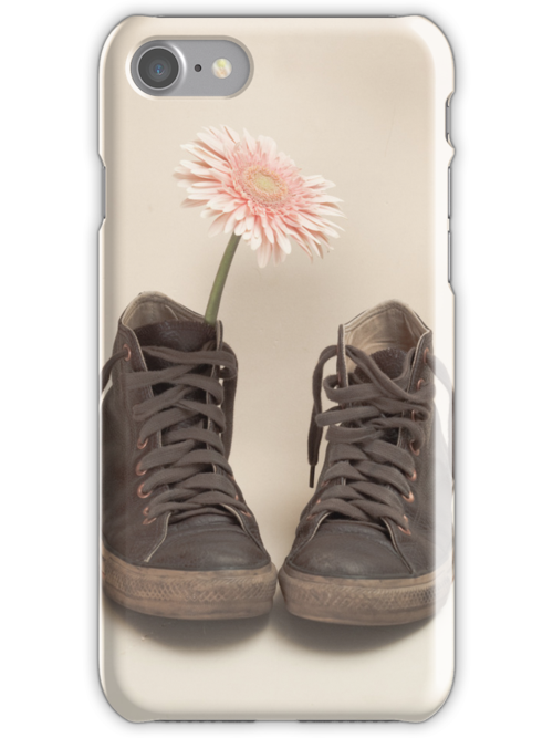 Converse and Pink Flower  by Caroline Mint