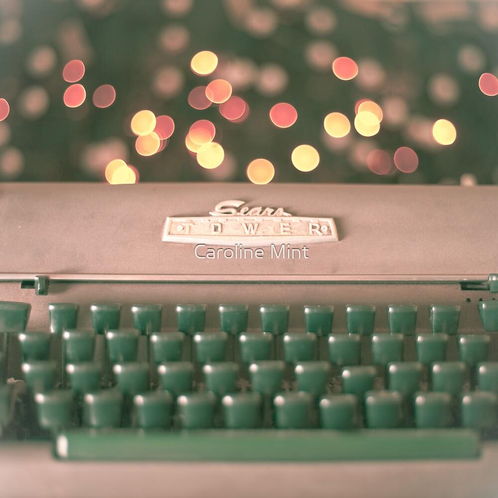 Typewriter and Magic Lights  by Caroline Mint