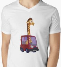 GIRAFFARI Men's V-Neck T-Shirt