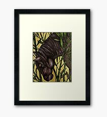 Horse in Bamboo Framed Print