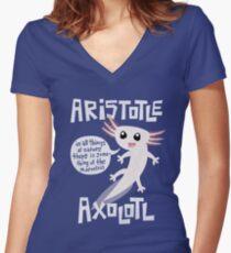 Aristote Axolotl T-shirt col V femme