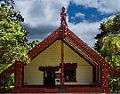 Whare Runanga Meeting House at Waitangi by Yukondick