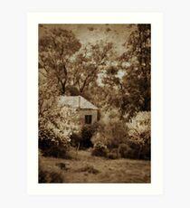 Spring Cottage  Art Print