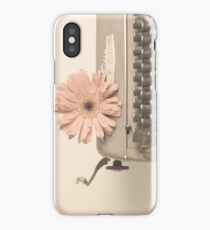 Soft Typewriter and Pink Flower  iPhone Case/Skin