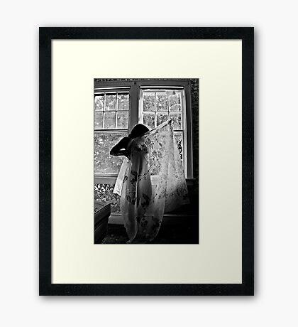 Image of Elation- Self Portrait- Abandoned Hotel, NY https://www.facebook.com/MJDPhoenixFoto  Framed Print