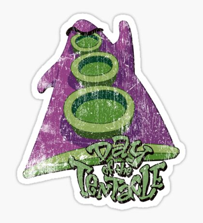Day of the Tentacle (Distressed) Sticker