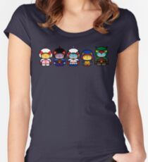 Chibi-Fi Gatchaman Women's Fitted Scoop T-Shirt