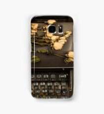 Typewriter, Tea and Dried Flowers  Samsung Galaxy Case/Skin