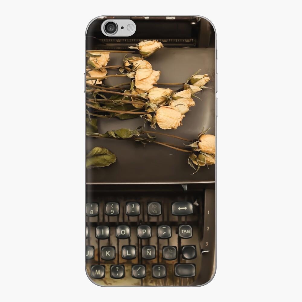 Typewriter, Tea and Dried Flowers  iPhone Skin