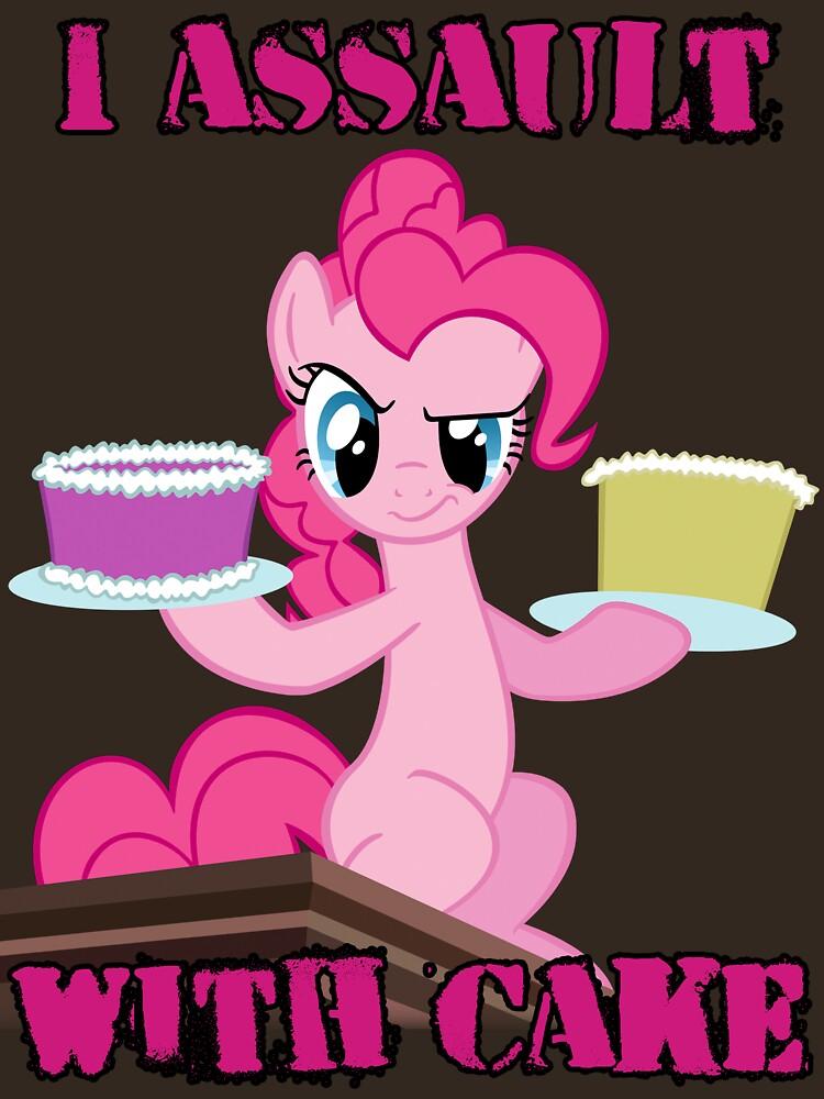 Pinkie Pie asalta con pastel (My Little Pony: Friendship is Magic) de broniesunite