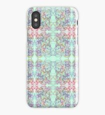 aqua bleed with pink and blue scribbles iPhone Case/Skin