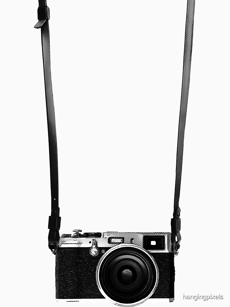 Vintage retro 35mm metal rangerfinder camera on isolated white background. by hangingpixels