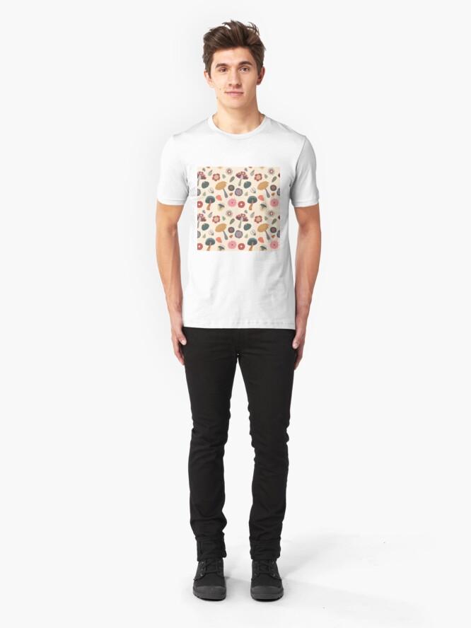 Alternative Ansicht von Woodland-nahtloses mit Blumenmuster Slim Fit T-Shirt