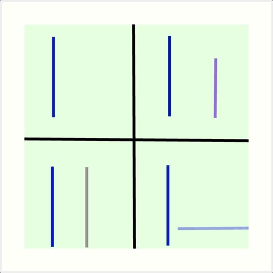 Quot Minimalist Loss Pattern Quot Art Prints By 4xult Redbubble