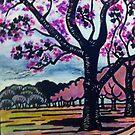 Jacaranda park by Pam Wilkie