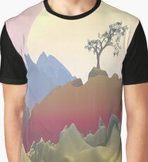 Fantasy Mountain Graphic T-Shirt