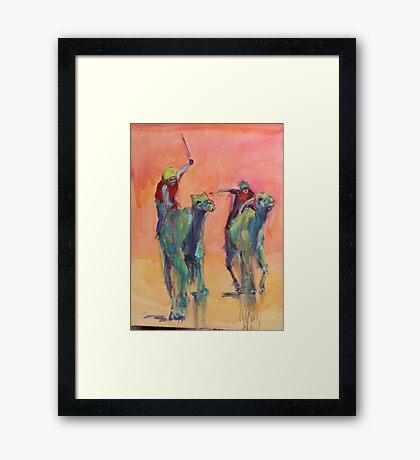 Camel races Framed Print