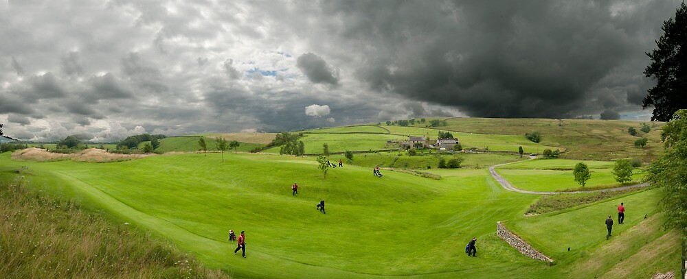 Golfers at the golf course by Kate Astbury