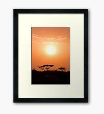 Ethiopian Sunset Framed Print