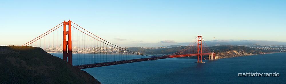 Golden Gate Bridge at Sunset by mattiaterrando