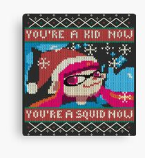 Knitted Ugly Sweater Splatoon Girl from Splatoon Canvas Print