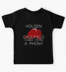 Holden Caulfield Thinks You're a Phony Kids Tee