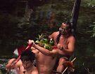 Maori Paddlers at Hangi by Yukondick
