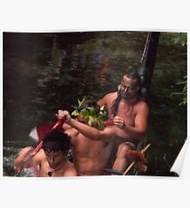 Maori Paddlers at Hangi Poster