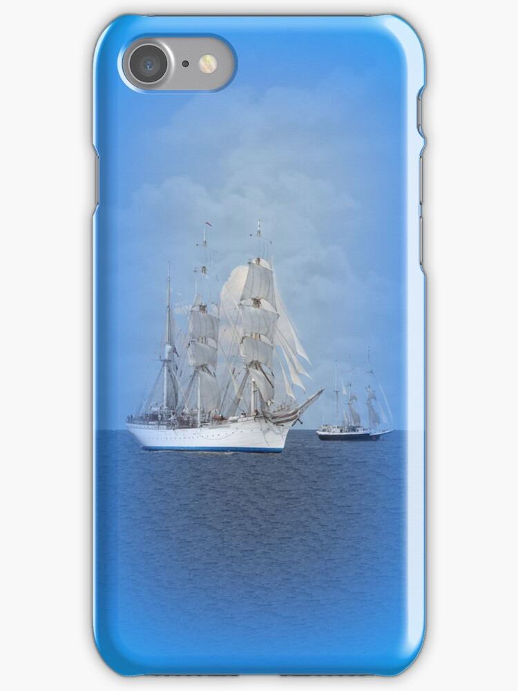 Tall Ships iPhone Case by Catherine Hamilton-Veal  ©