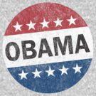 Vote Obama 2012 Vintage Button Shirt by ObamaShirt