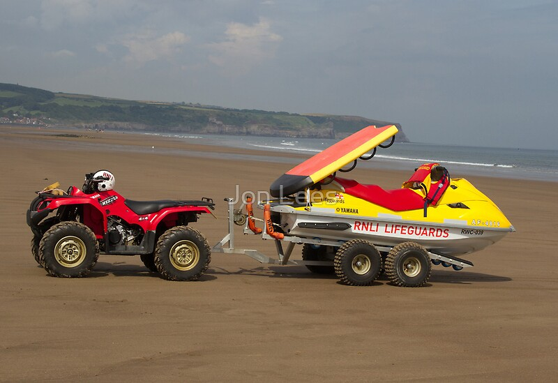 RNLI ATV and rescue jet ski Posters by Jon Lees  Redbubble