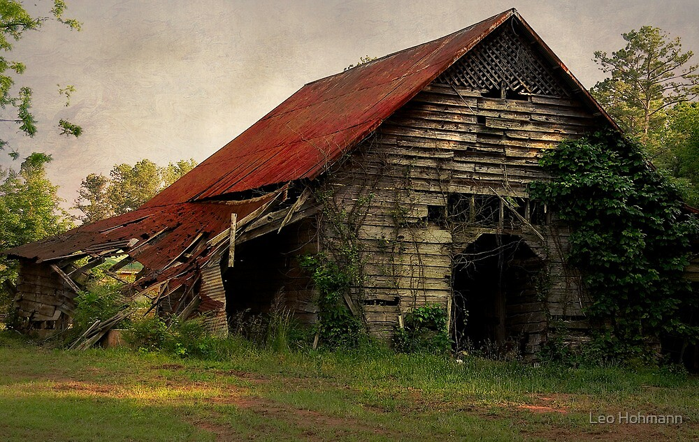 The Old Country Barn By Leo Hohmann Redbubble