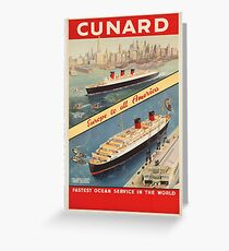 Vintage poster - Cunard Greeting Card