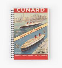 Vintage poster - Cunard Spiral Notebook