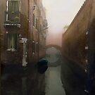 Bridge in the Fog,  Venice  by Barbara Wyeth
