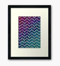 Zig Zag Chevron Pattern Framed Print