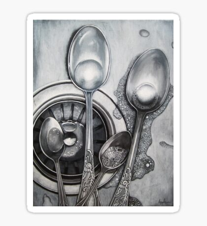 Spoons & Stainless Steel painting Sticker