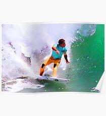 Julian Wilson Winner-US Open of Surfing 2012 Poster