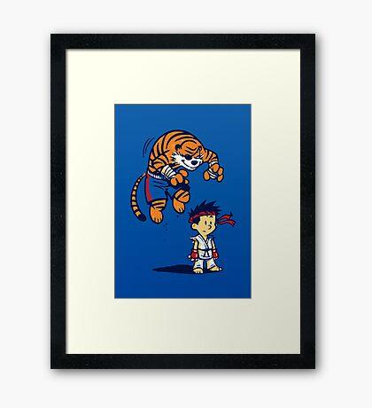 Tiger! - POSTER Framed Print