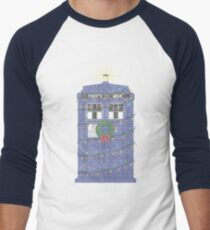 Police Box Christmas Knit Men's Baseball ¾ T-Shirt